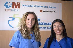 Las cardiólogas Gabriela Tirado y Carolina Espejo, de la Unidad de Cardiología Intervencionista del Hospital Clínico San Carlos (IdISSC) de Madrid